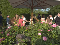 Guests at the Rose Garden event