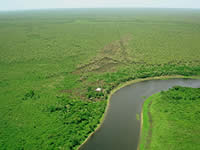 The location of the lodge in the Pantanal.