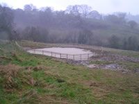 The finished pond