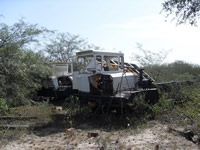 Bulldozers in the dry Chaco