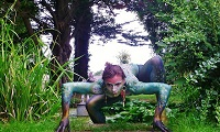 Body-painted dancer