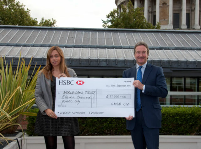 CBRE Projects Group cheque presentation