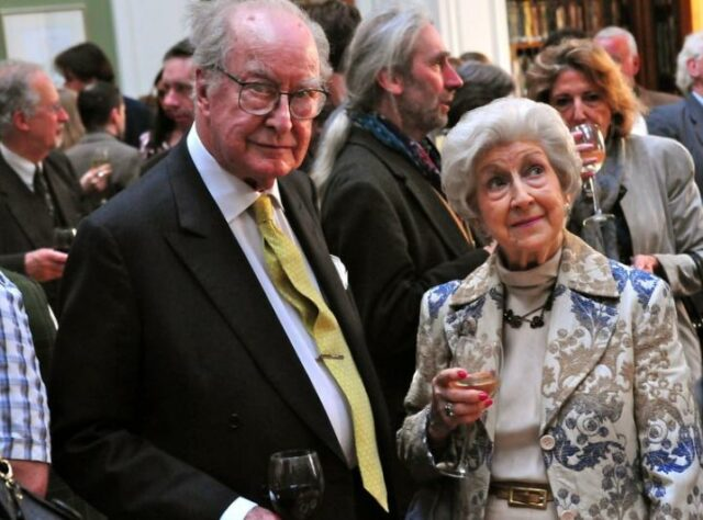 Frank and Beryl Thornton at the Trust's 20th Anniversary celebration at the Linnean Society of London.