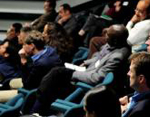 Delegates at WLT's 2012 partners symposium in a lecture theatre at Kew Gardens.