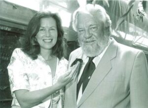 Lee and Gerald Durrell at the launch of Programme for Belize.