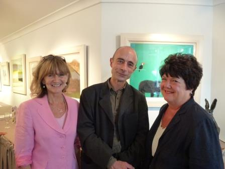 Judy Stafford, Andrew Squire and Jane Cooper photographed in front of Spectacled Bear.