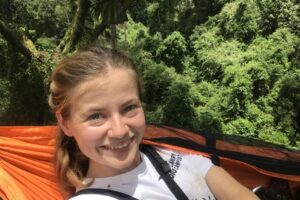 WLT staff member Nina Seale participating in The Big Canopy Campout