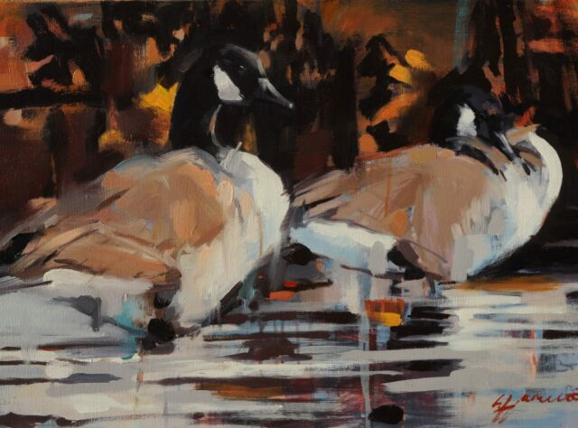Canada Geese painting by Lorna Hamilton