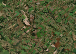 A-patchwork-of-agricultural-plots,-adjacent-to-San-Rafael