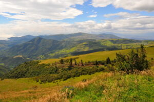 A scene of agricultural deforestation in the Ecuadorian Andes