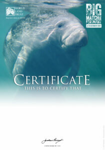 BMF Appeal certificate manatee with logo